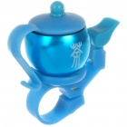 Teapot Shaped Aluminum Bicycle Mounted Bell (Pair/Color Assorted)