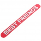 "Rubber Slap Wrap with ""BEST FRIENDS"" Pattern - Color Assorted"