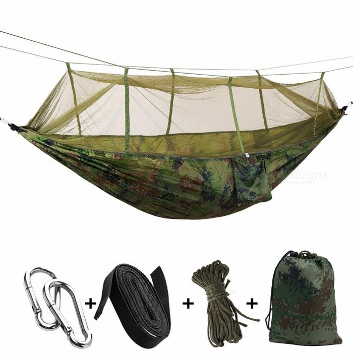 Outdoor Mosquito Net Parachute Hammock Camping Hanging Sleeping Bed
