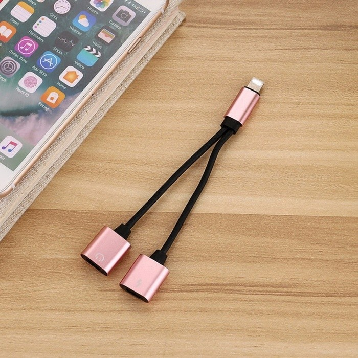 2 in 1 lightning to charging audio splitter cable adapter. Black Bedroom Furniture Sets. Home Design Ideas