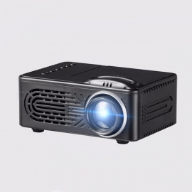 814 Portable Mini Household LED Projector, 1080P HD Micro Home Theater LCD Projector black