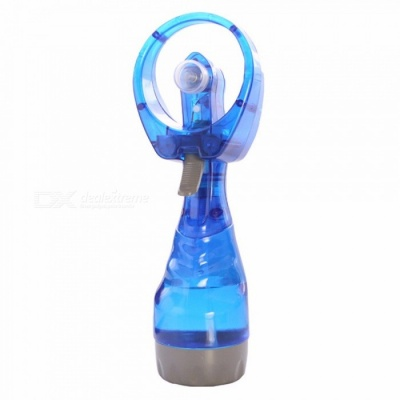 Portable Hand Held Cooling Cool Water Spray Misting Fan Mist Travel Beach Navy Blue