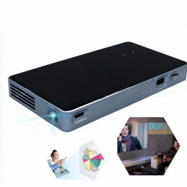 Portable HD Android 7.1 DLP Projector, Built-in Wi-Fi, Bluetooth Mini Projector Home Cinema BLACK