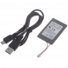 """1800mAh"" Battery w/ USB Cable for PS3 Wireless Controller - Black"