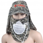 Camouflage Fishing Cap/Hat with Detachable Front and Back Cover