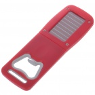 Solar Power 2-LED White + 1-LED Purple Light Torch with Opener - Red (1*LIR2032)