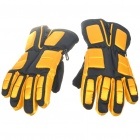 Warm Ski Gloves for Children - Yellow + Black (Pair)