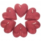 Creative Love Heart Shaped Candle Set (6-Piece Pack)