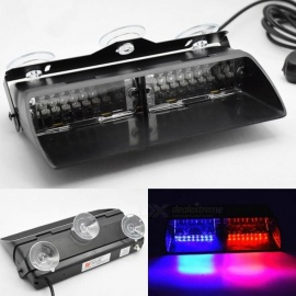 Car Police Strobe Flash Light Dash Emergency 18 Flashing Light Warning Lamp White Amber Red Blue Yellow White And Yellow