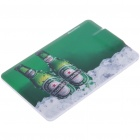 Credit Card Style USB 2.0 Rechargeable MP3 Player - Beer (4GB)