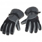 Waterproof Warm Ski Gloves for Man - Gray + Black (XL-Size/Pair)