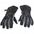 Waterproof Warm Ski Gloves for Man - Black + Gray (XL-Size/Pair)