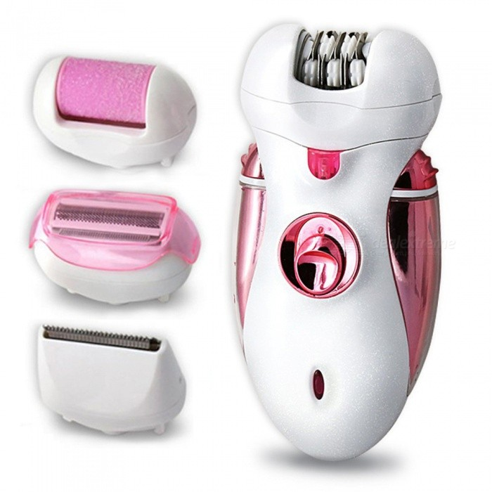 4-in-1 Rechargeable Multifunctional Women Shaver, Electric Epilator Hair Removal Tool (EU Plug)