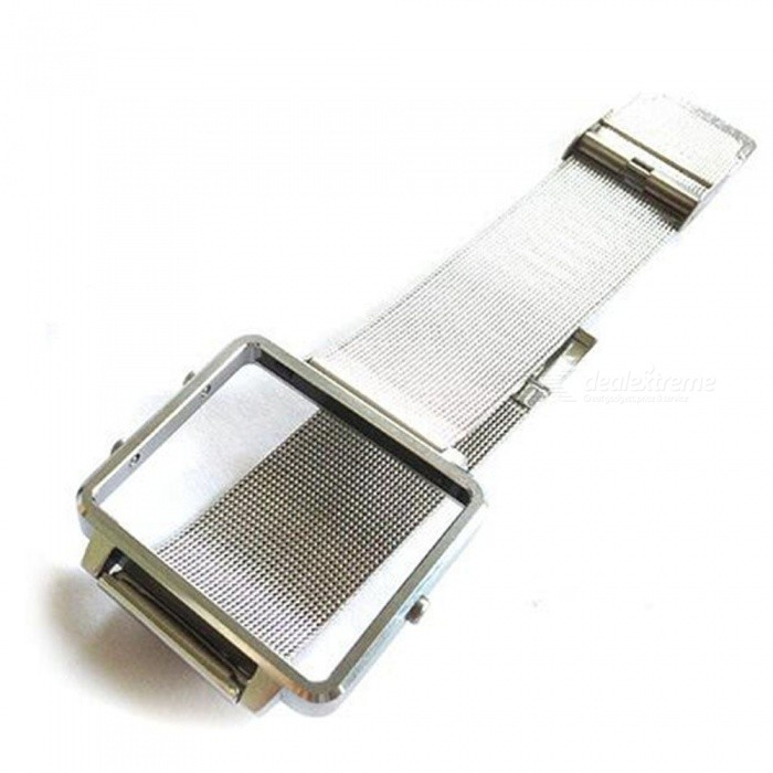 JEDX Smart Watch Case, Metal Watch Strap Band for Fitbit Blaze - Silver