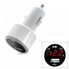 OJADE 12~24V Car Ciagrette Ligher, Single USB Charger with Automobile Voltage Testing - White