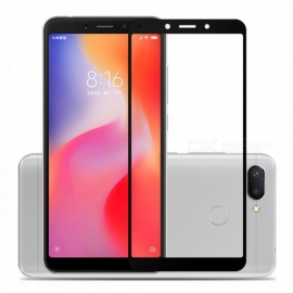 Naxtop 2.5D Full Screen Coverage Tempered Glass Protector for Xiaomi Redmi 6A - Black