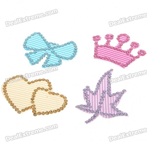 Make Up Fashion Hair Pad Sticker - Style/Color Assorted (4 Pack)