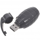 Unique Grenade Shaped USB 2.0 Flash/Jump Drive - Black (8GB)