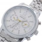 Stainless Steel Clockwork Manual-Winding Mechanical Wrist Watch with Luminous Hand - Silver