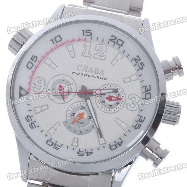 Special Manual-Rotating Dial Clockwork Manual-Winding Mechanical Wrist Watch with Luminous Hand