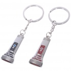 Unique Valentines' Zinc Alloy Keychains - Flashlight (2-Piece Set)