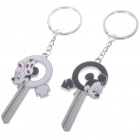 Unique Valentines&#039; Zinc Alloy Keychains - Mickey Keys (2-Piece Set)