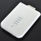 2400mAh Rechargeable External Battery for iPod/iPhone 3GS/4 (Silver + White)