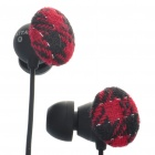 Stylish Noise Isolation In-Ear Earphones - Black + Red (3.5mm Jack/130cm Cable)