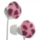 Stylish Noise Isolation In-Ear Earphones - White + Pink (3.5mm Jack/130cm Cable)