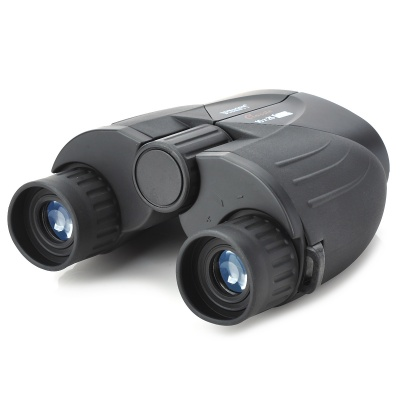 Compact 10*25 Pocket Binoculars with Carrying Pouch - Black