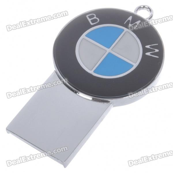 Compact Stainless Steel Car Brand Logo USB 2.0 Flash/Jump Drive - BMW (4GB)