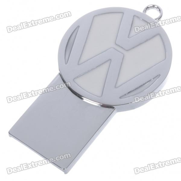 Compact Stainless Steel Car Brand Logo USB 2.0 Flash / Jump Drive - Volkswagen (4GB)