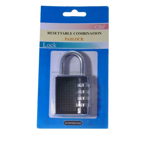 4-Digit PIN Combination Pad Lock