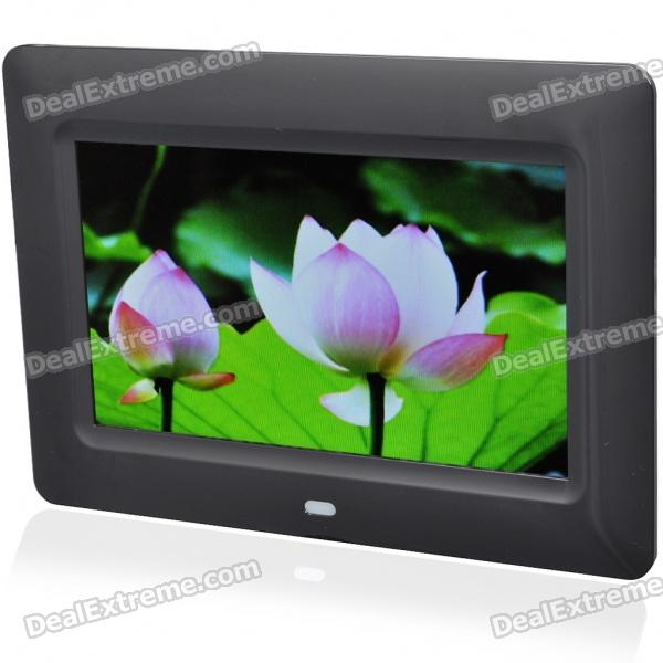 7 Wide Screen TFT LCD Desktop Digital Photo Frame with SD/MMC/TV Out - Black (480*234px) lussole lsc 8503 05