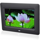 "7"" Wide Screen TFT LCD Desktop Digital Photo Frame with SD/MMC/TV Out - Black (480*234px)"