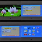 "7"" Wide Screen TFT LCD Desktop Digital Photo Frame with SD/MMC/TV Out - White (480*234px)"