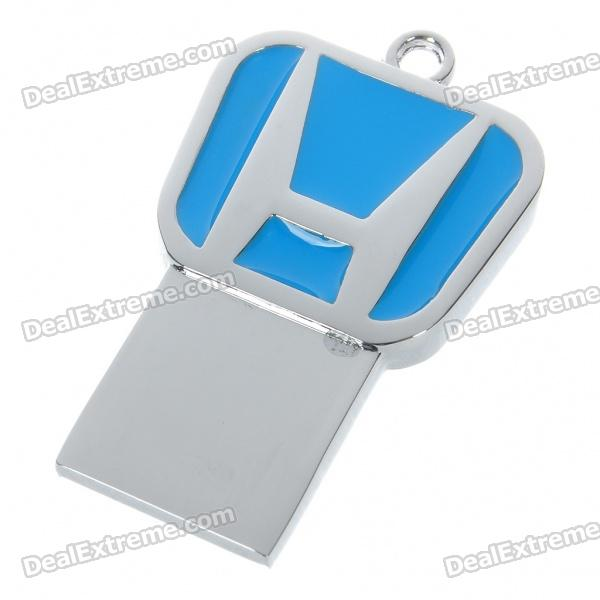 Compact Stainless Steel Car Brand Logo USB 2.0 Flash / Jump Drive - Honda (4GB)