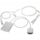 DVI + Stereo + USB 5pin to Mini DisplayPort Converter (60CM Cable)