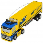 Mini R/C Model 1:98 Scale Container Truck - Yellow + Blue (27MHz/1*AA)