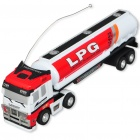 Mini R/C Model 1:98 Scale Oil Tank Truck - White + Red (27MHz/1*AA)