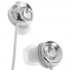Noise Isolation In-Ear Stereo Earphone - Silver + White (3.5mm Jack/120CM-Cable)