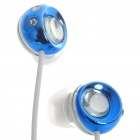 Noise Isolation In-Ear Stereo Earphone - Blue + White (3.5mm Jack/120CM-Cable)