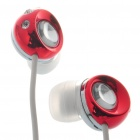 Noise Isolation In-Ear Stereo Earphone - Red + White (3.5mm Jack/120CM-Cable)