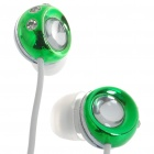 Noise Isolation In-Ear Stereo Earphone - Green + White (3.5mm Jack/120CM-Cable)
