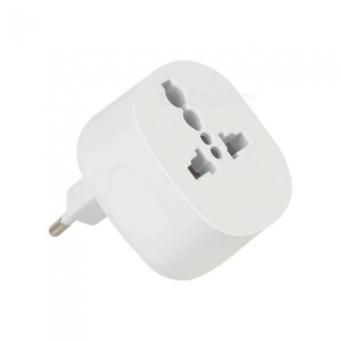 Universal EU to 2 USB Plug Power Adapter for Travel