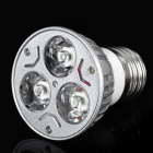 E27 3W 3-LED 6500K 240-Lumen White Light Bulb (110~260V)