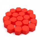 CARKING 20Pcs 19mm Luminous Car Wheel Lug Nut Bolt Hub Screw Cover, Protective Cap - Red