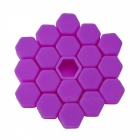 CARKING 20Pcs 19mm Luminous Car Wheel Lug Nut Bolt Hub Screw Cover, Protective Cap - Purple