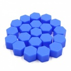CARKING 20Pcs 19mm Luminous Car Wheel Lug Nut Bolt Hub Screw Cover Protective Cap - Blue