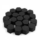 CARKING 20Pcs 19mm Luminous Car Wheel Lug Nut Bolt Hub Screw Cover Protective Cap - Black